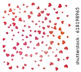 heart background vector... | Shutterstock .eps vector #618198965