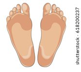 left and right foot soles... | Shutterstock .eps vector #618200237