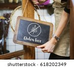 gluten free healthy lifestyle... | Shutterstock . vector #618202349