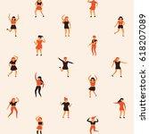 people texture character vector ... | Shutterstock .eps vector #618207089