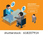 business negotiation | Shutterstock .eps vector #618207914