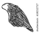 angel wing. illustration on... | Shutterstock .eps vector #618212717