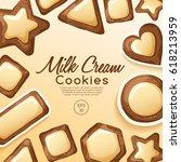 homemade cookies and biscuit... | Shutterstock .eps vector #618213959
