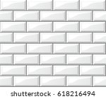illustration of white tiles... | Shutterstock .eps vector #618216494
