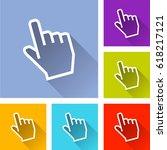 illustration of six hand cursor ... | Shutterstock .eps vector #618217121