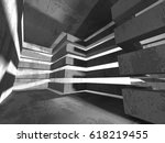 abstract concrete architecture... | Shutterstock . vector #618219455
