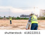 surveyor equipment. surveyor s... | Shutterstock . vector #618222011