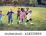 happiness group of cute and... | Shutterstock . vector #618225854