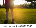 children play football in the... | Shutterstock . vector #618228545