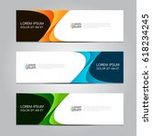 Vector design Banner background. | Shutterstock vector #618234245