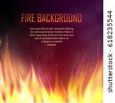 vector banner with fire. fiery... | Shutterstock .eps vector #618235544