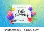 summer sale background template.... | Shutterstock .eps vector #618235694