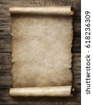 vintage parchment or scroll 3d... | Shutterstock . vector #618236309