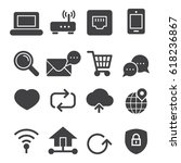 internet icons  black edition  | Shutterstock .eps vector #618236867