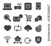 internet icons  black edition  | Shutterstock .eps vector #618236867