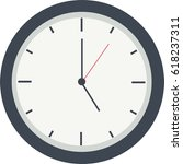 black and white  clock icon.... | Shutterstock .eps vector #618237311
