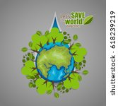 eco friendly. ecology concept... | Shutterstock .eps vector #618239219