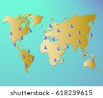 global network concept. world... | Shutterstock .eps vector #618239615