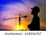 portrait of architect... | Shutterstock . vector #618246767