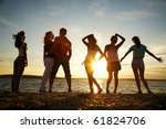 group of happy young people... | Shutterstock . vector #61824706