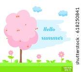 vector illustration. cute... | Shutterstock .eps vector #618250841