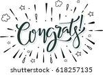 congrats. congratulations card... | Shutterstock .eps vector #618257135