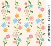 floral pattern on light...   Shutterstock .eps vector #618260747