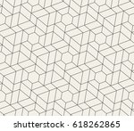 abstract geometric pattern with ... | Shutterstock .eps vector #618262865