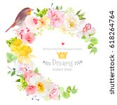 sunny spring vector design... | Shutterstock .eps vector #618264764