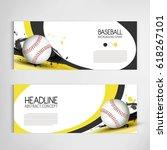 baseball tournament  modern... | Shutterstock .eps vector #618267101