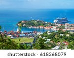 caribbean. the island of... | Shutterstock . vector #618268079