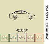 car icon. line icon