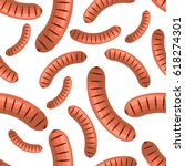 sausages seamless pattern | Shutterstock .eps vector #618274301