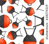 bbq seamless pattern   Shutterstock .eps vector #618274319