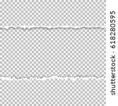 realistic vector torn paper... | Shutterstock .eps vector #618280595