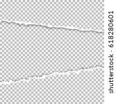 realistic vector torn paper... | Shutterstock .eps vector #618280601