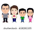 family 4 members | Shutterstock .eps vector #618281105