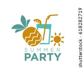 summer party graphic logo... | Shutterstock .eps vector #618282719