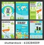 ecology poster template set....   Shutterstock .eps vector #618284009