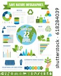 save nature infographic... | Shutterstock .eps vector #618284039