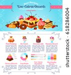 desserts and low calories... | Shutterstock .eps vector #618286004