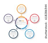 circle infographic template... | Shutterstock .eps vector #618286544