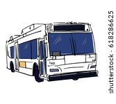 new york bus illustration.... | Shutterstock .eps vector #618286625