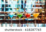 multicolored cocktails at the... | Shutterstock . vector #618287765