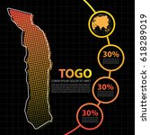 togo map infographic design... | Shutterstock .eps vector #618289019