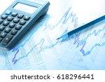 operating budget  calculator... | Shutterstock . vector #618296441