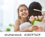 happy mother's day  child... | Shutterstock . vector #618297629