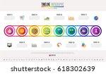 timeline infographics design... | Shutterstock .eps vector #618302639