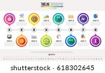 timeline infographics design... | Shutterstock .eps vector #618302645