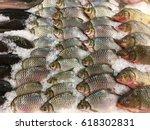 fresh fish at supermarkets | Shutterstock . vector #618302831